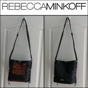 REBECCA MINKOFF Cheetah Prints Bucket Bag